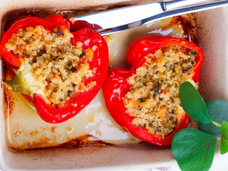 Vegetarian Stuffed Peppers With Quinoa