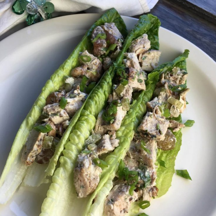 Chunky Chicken Salad Lettuce Wraps
