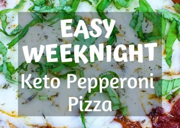 "This delicious and guilt-free pepperoni pizza features a melt-in-your-mouth baked cream cheese ""crust,"" plus all the incredible flavor you've come to expect from this perennial favorite. #recipes #Healthy #Dinner #Breakfast #lunch #snack #cooking #simple #mealprep #Easy #keto #ketogenic #ketodiet #diet #carbs #fats #goodfats"