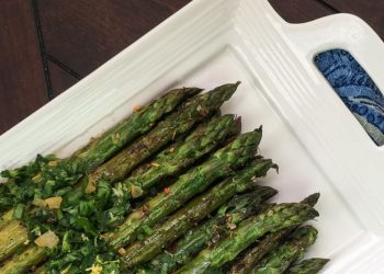 This grilled marinated asparagus is a quick and easy side dish enhanced by the addition of a simple, yet tasty, Italian gremolata. #recipes #Healthy #Dinner #sidedish #cooking #simple #mealprep #Easy