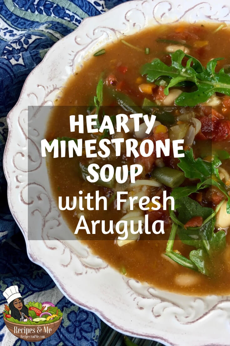 This satisfying minestrone soup features a classic combination of fresh herbs, vegetables, white beans, and pasta. #recipes #Healthy #Dinner #Breakfast #lunch #snack #cooking #simple #mealprep #Easy