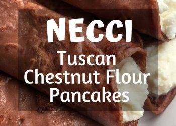 These classic stuffed chestnut flour pancakes are a popular Tuscan dessert typically filled with a combination of fresh sheep's milk ricotta cheese and honey. #recipes #Healthy #dessert #necci #cooking #simple #mealprep #Easy