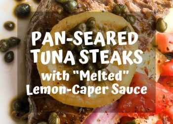 This fast, healthy, and delicious seared tuna dish comes together in one pan and is ready in less than 30 minutes. #recipes #Healthy #Dinner #lunch #cooking #simple #mealprep #Easy #tuna