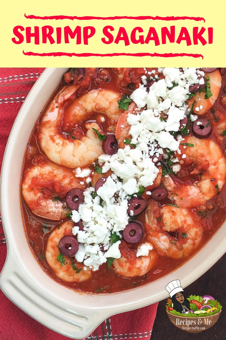 Shrimp Saganaki is a quick and easy Greek appetizer that is often served with crusty bread to scoop up the savory tomato sauce. #recipes #Healthy #Dinner #lunch #cooking #simple #mealprep #Easy #shrimp