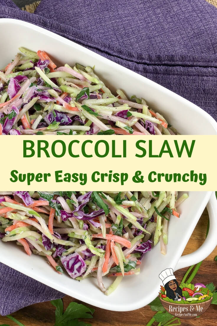 This super quick recipe is perfect for those nights you want a light and tasty side dish without pulling out another pot or pan. #Broccoli #BroccoliSlaw #BroccoliSlawRecipe #BroccoliSalad #Recipes #KetoFood #KetoFoodDiet #Keto