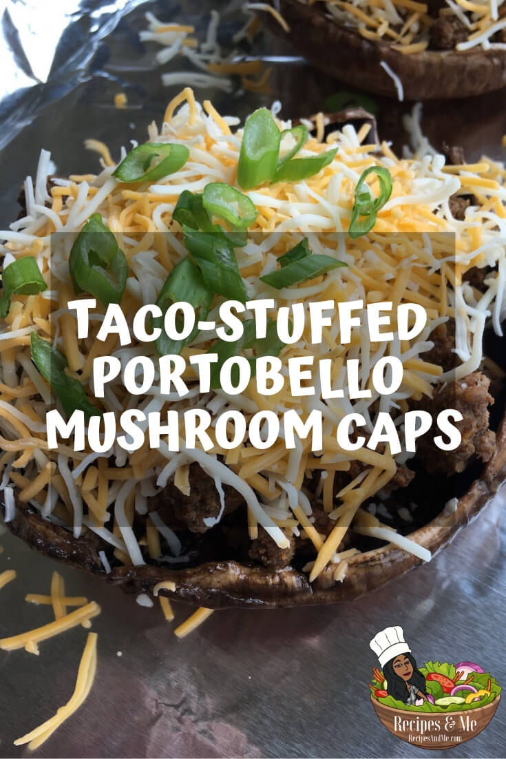 These delicious low-carb stuffed Portobello mushroom caps are really easy to make and deliver a ton of great flavor. #Recipes #Healthy #Dinner #Breakfast #Lunch #Cooking #Simple #MealPrep #Easy #Vegetables #Veggies #Beef