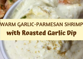 This warm garlic-Parmesan shrimp is packed with wonderful flavors, but the real breakout star is the versatile roasted garlic dip. #recipes #holiday #Christmas #Thanksgiving #Dinner #Easy #Healthy #pork #PorkTenderloin #Ideas #Family #Fall #Appetizers #MainDishes #Dinner #FreshCranberries #Sides #Desserts #Drinks #Healthy #Simple #CheeseBall #Savory #Kitchens