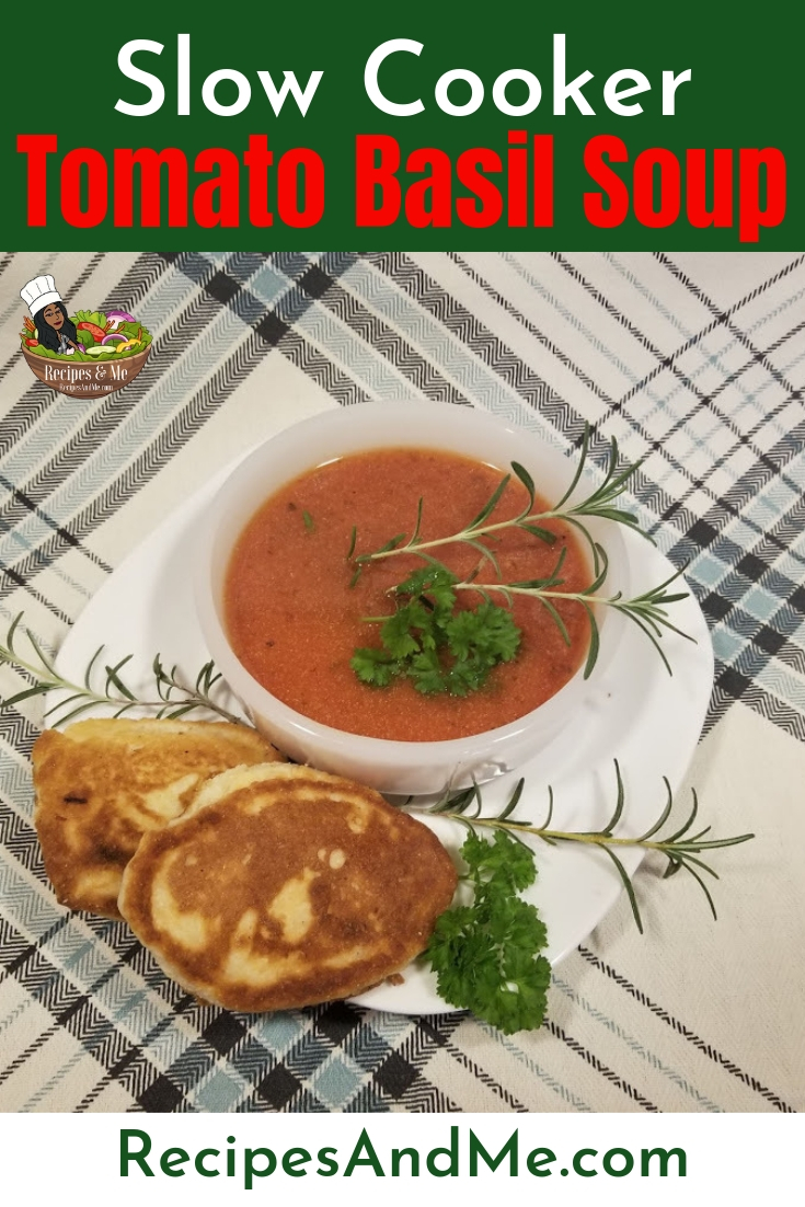 Tomato basil soup is one of those memorable comfort foods. It warms us up on the coldest of winter days and pairs beautifully with easy sandwiches or salads. #Ingredient #Easy #Homemade #CrockPot #Benefits #Fresh #Healthy #Creamy #Canned #Vegan #Recipe #Quick #DairyFree #TomatoRecipes