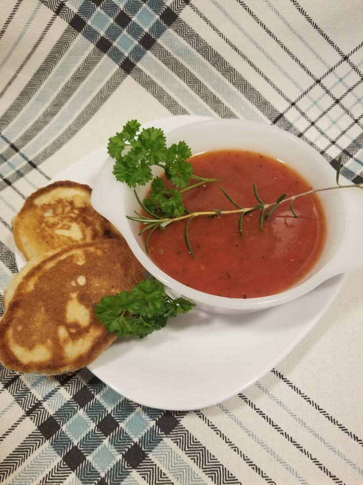 Slow Cooker Dairy Free Tomato Basil Soup