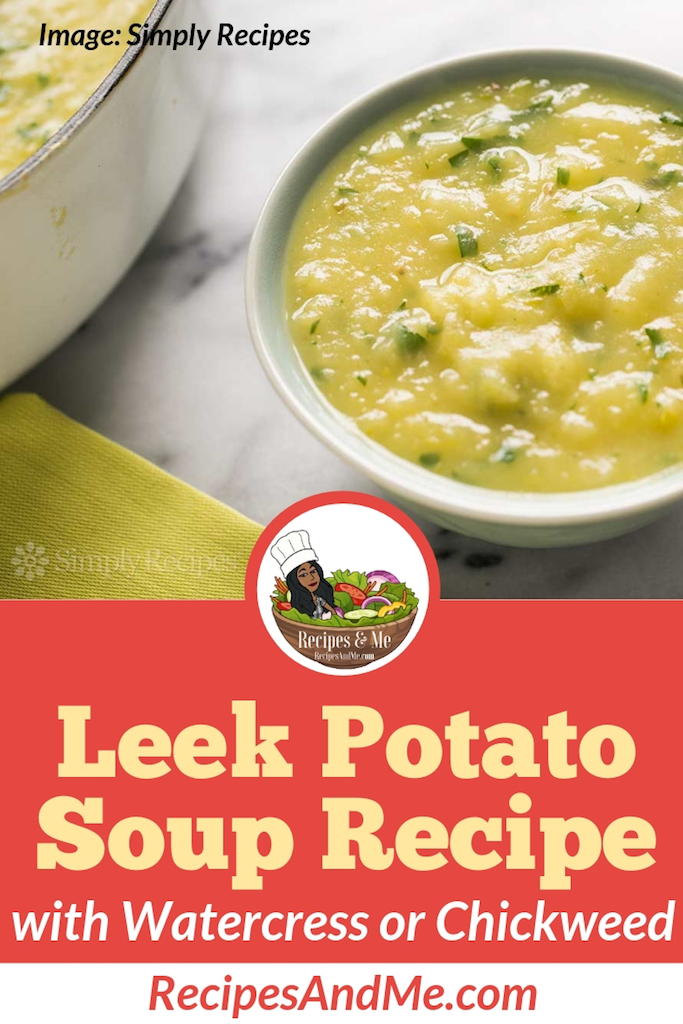 "Our favorite simple leek potato soup recipe or leek and potato vichyssoise with watercress recipe is from a chain of English vegetarian restaurants named ""Cranks"", in operation from 1961-1987.  #Healthy #Recipes #Potato #Vegetable #Chicken #Crockpot #Easy #Veggie #Vegetarian #Fall #Creamy #Winter #Kale #Broth #Quick #Best #Summer #Hearty"
