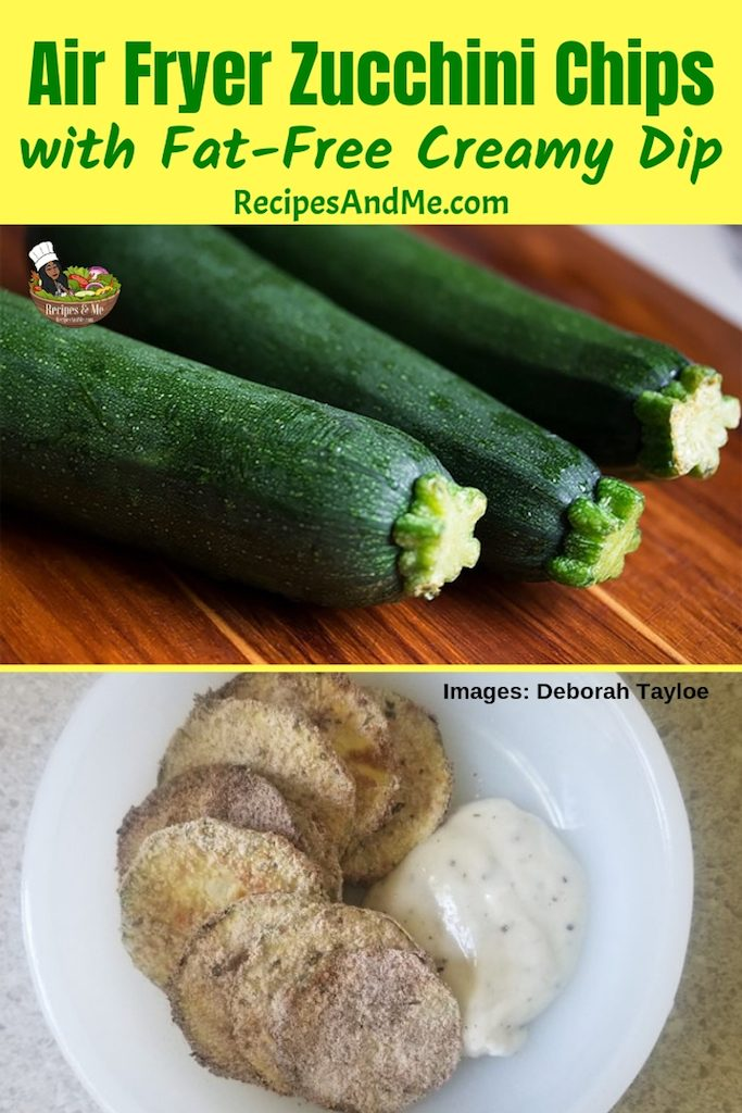 Air fryer zucchini chips are an ideal way to utilize some of that bumper crop of summertime's favorite squash. #Healthy #Bread #Sauteed #Shredded #Baked #Easy #Casserole #Side #OnTheGrill #Dinner #Roasted #Keto #LowCarb #AirFryer #Fried #Noodles #Fritters #Chips #Parmesan #Paleo #Lasagna #Boats #GlutenFree #Breakfast #Vegetarian