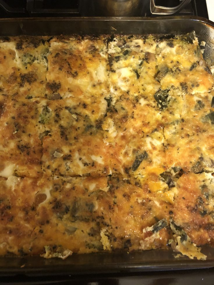 Egg bake with Broccoli and Cheese - image by RecipesAndMe.com