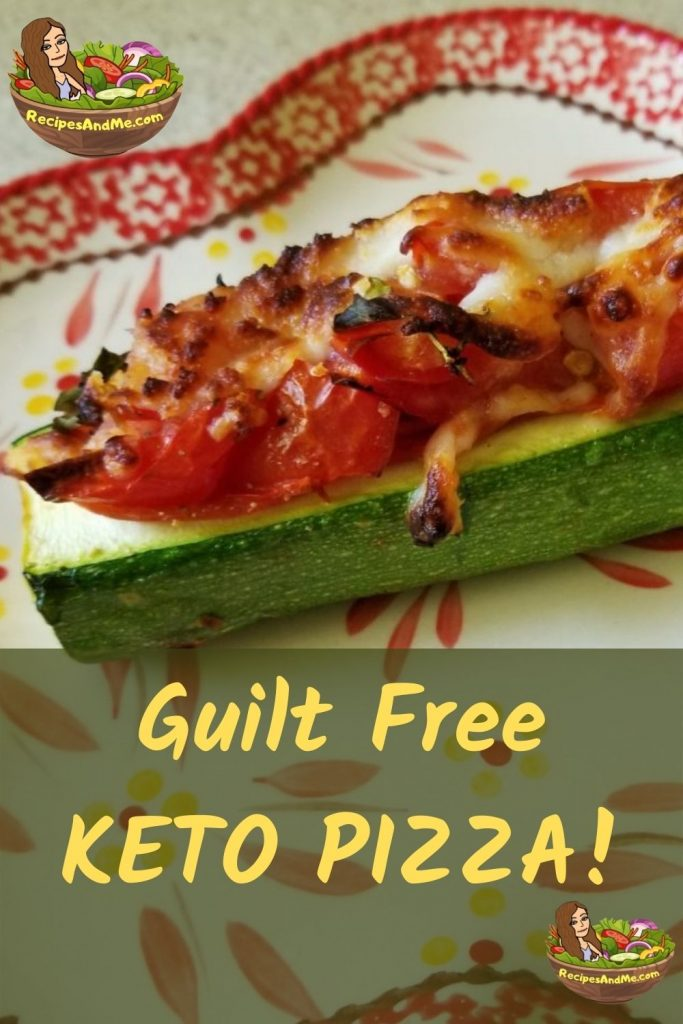 GUILT FREE KETO PIZZA TO LOVE - and that loves you with great nutrition! Please share this and also let us know how it goes for you in the comments! We'd love to hear from you and to see your recipe photos! #KetoPizza #KetoPizzaRecipe #ZucchiniCrustPizza #HealthyPizza #VegetarianPizza #PaleoPizza #RecipesAndMe