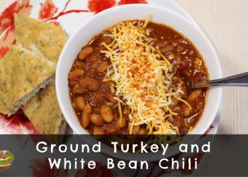 ground turkey and white bean chili cover