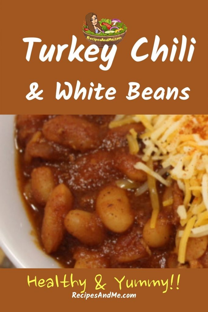 A wonderfully DELICIOUS, Healthy Instant Pot Turkey Chili With White Beans, Instant Pot Recipes, Healthy Chili, Weight Watchers Zero Points Recipe #WWzero #WWZeroRecipe #WWzeroPointFoods #WeightWatchers #HealthyChili #TurkeyChili #WhiteBeansChili