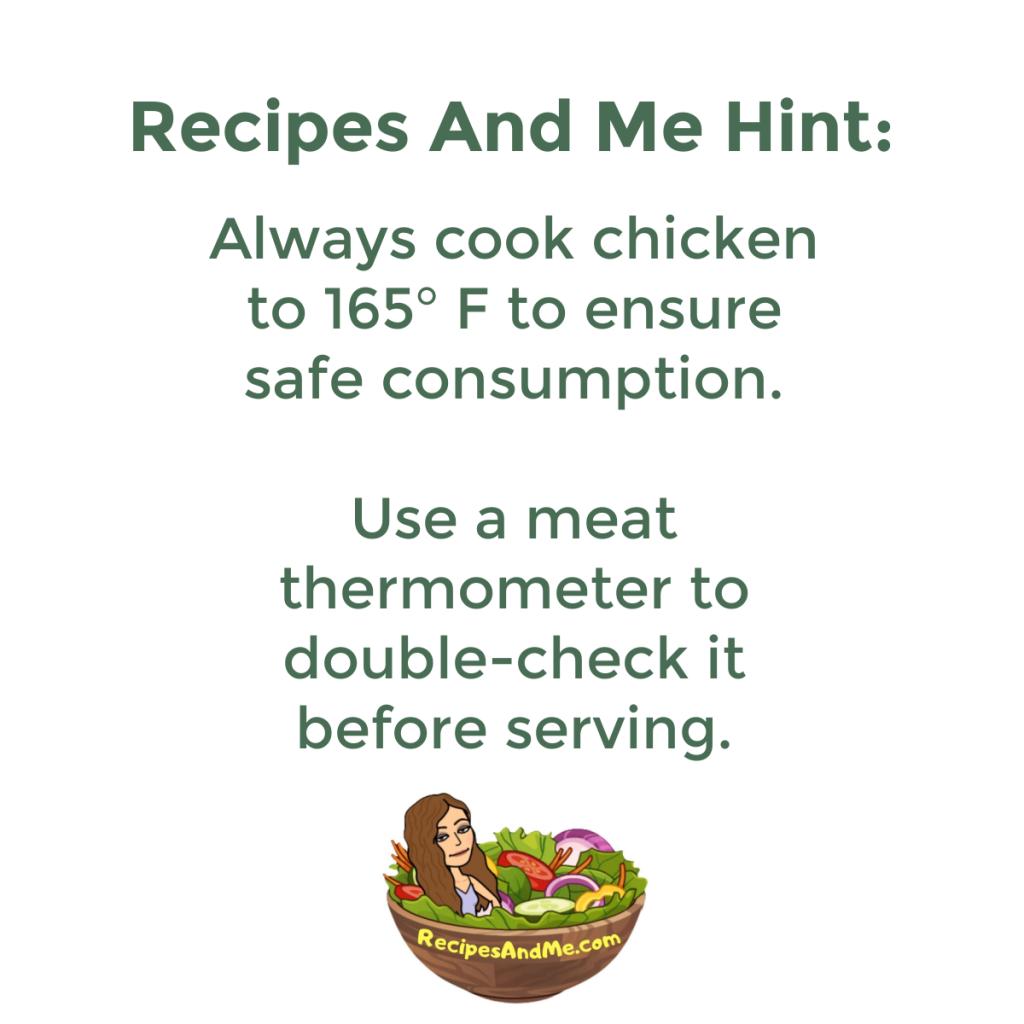 chicken cooking temperature