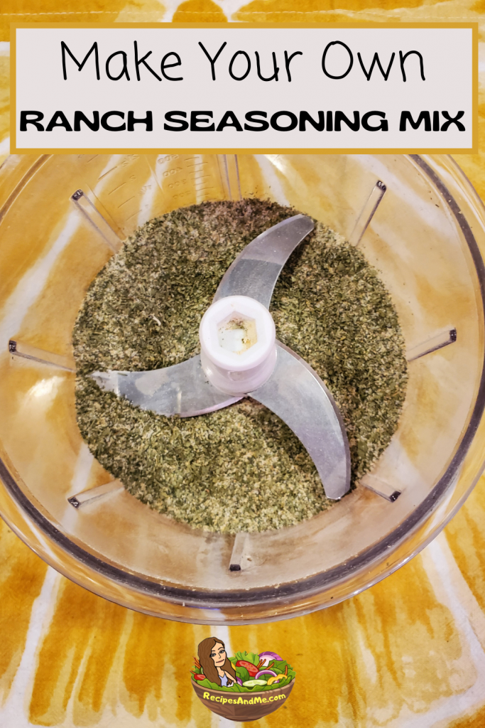 homemade ranch seasoning mix for homemade ranch dressing for salads, dips, baking and more. #RanchDressing #HomemadeRanchDressing #HomemadeRanchDressingMix #DryRanchDressing #RanchDressingHerbs #RecipesAndMe