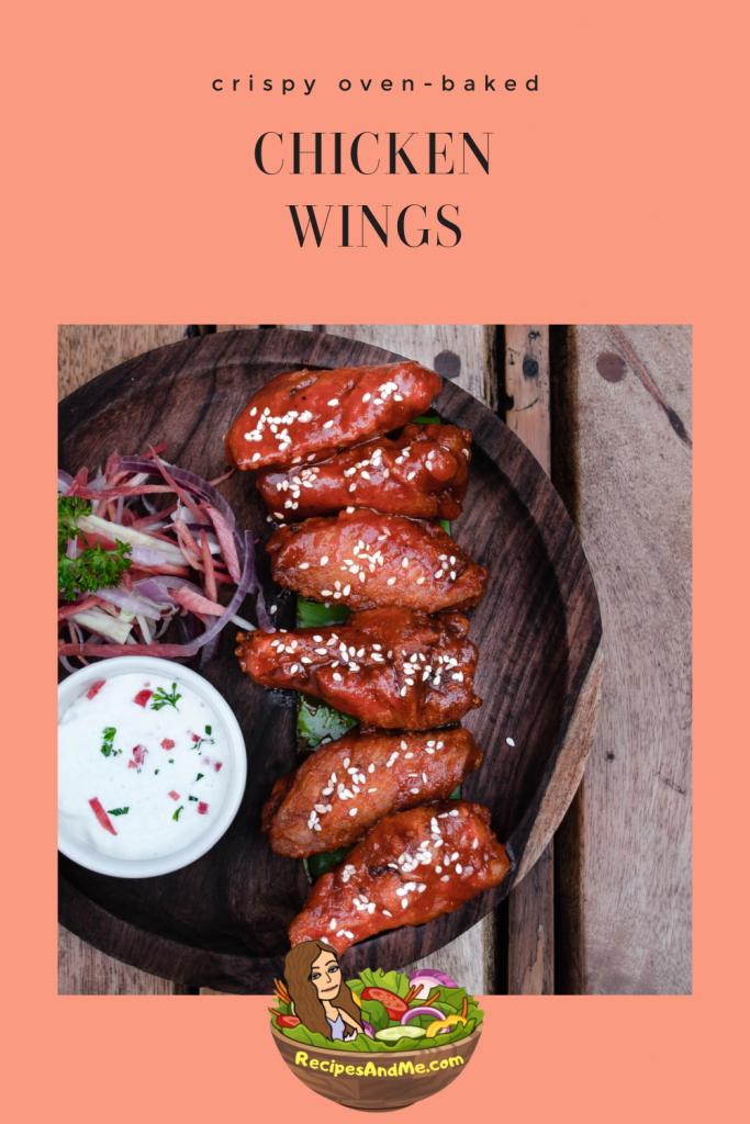 Crispy oven baked chicken wings. #ChickenWings #OvenBakedChickenWings #HomemadeChickenWings #ChickenWingsRecipe