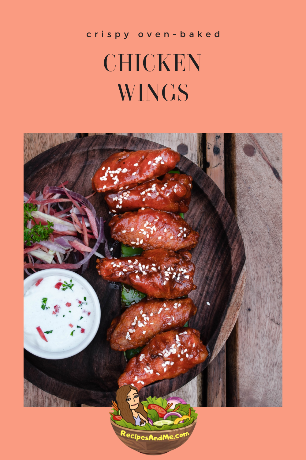 Oven baked chicken wings. #ChickenWings #OvenBakedChickenWings #HomemadeChickenWings #ChickenWingsRecipe