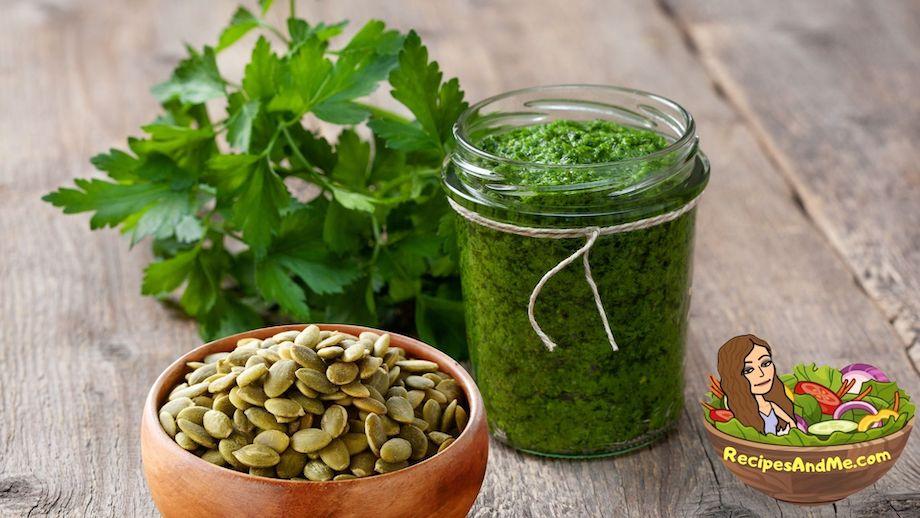 Parsley Pesto With Pumpkin Seeds on RecipesAndMe.com