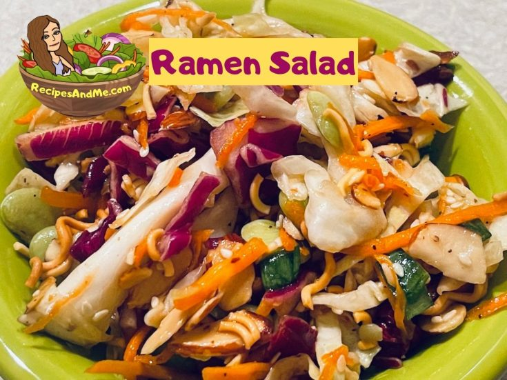 Recipe for ramen salad with cabbage-honey-dressing