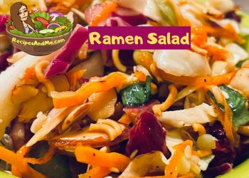 Recipe for best-Ramen-salad-with-cabbage and beans. RecipesAndMe.com