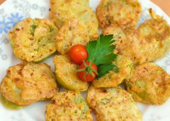 a plate of delicious fried green tomatoes recipes and serving ideas